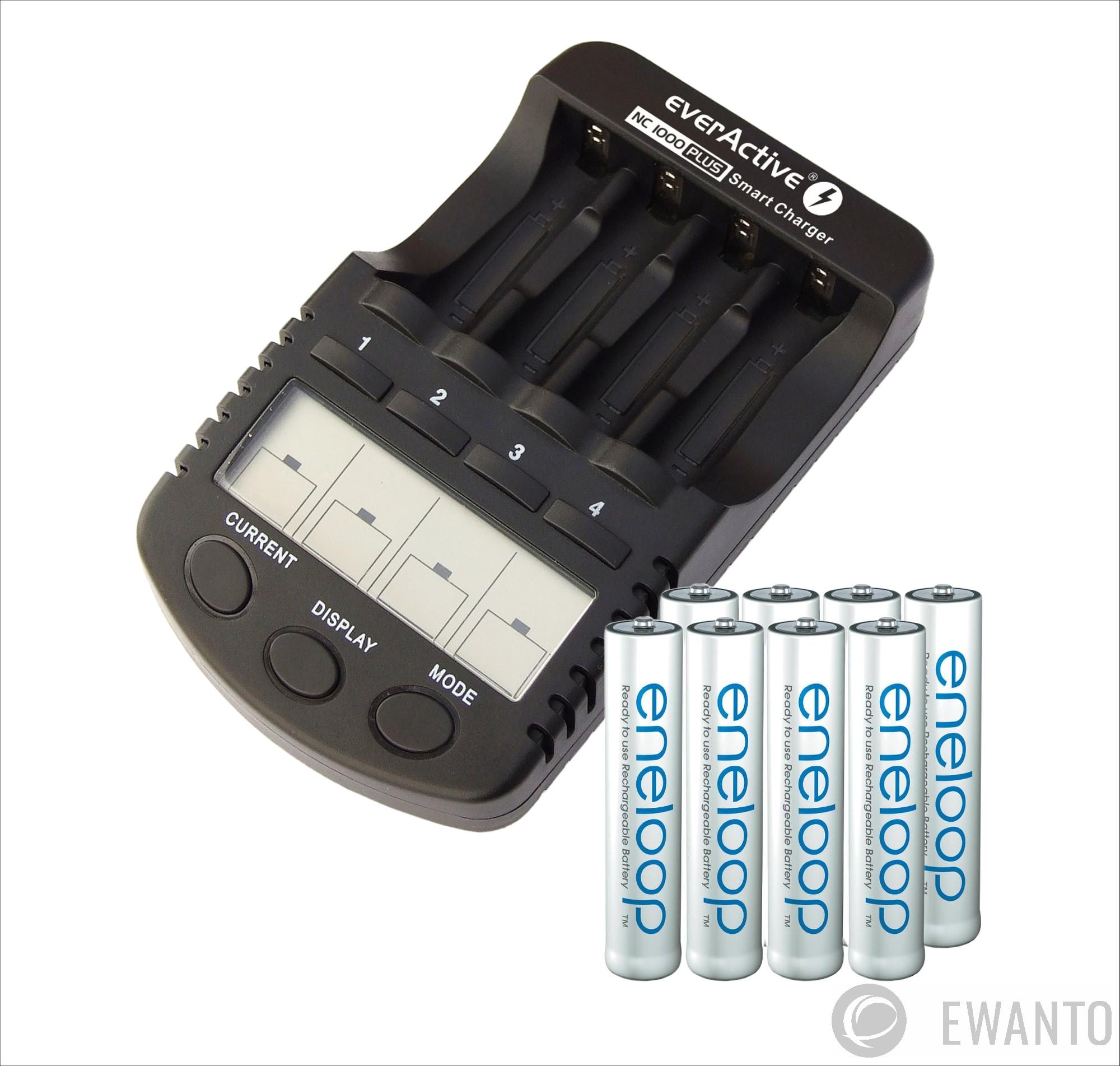 8x Panasonic Eneloop AA Mignon Akku Set BK-3MCCE/BF1 Bulk + ...