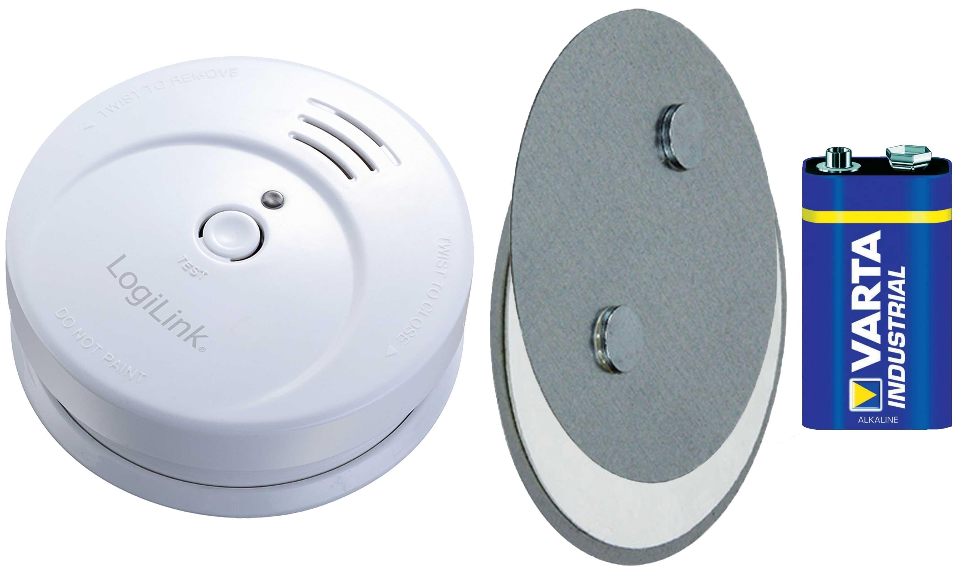 logilink rauchmelder magnet befestigung set halter brandmelder en14604 sc0001a ebay. Black Bedroom Furniture Sets. Home Design Ideas