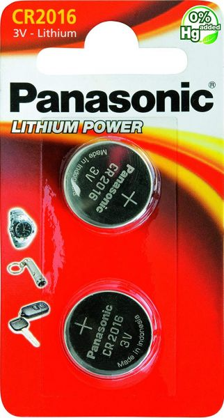 Panasonic CR-2016EL/2B Knopfzelle Lithium CR2016 2er Blister 3V
