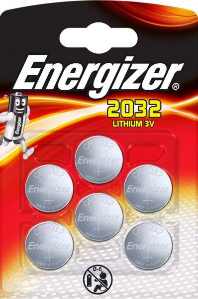 Energizer Lithium 3V Zelle 6er Blister CR2032 IEC C Knopfzelle ECR20326