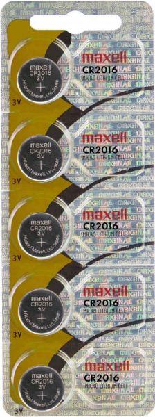 Maxell CR2016 CR2016 Batterie 5er Blister 3V Lithium Knopfzelle