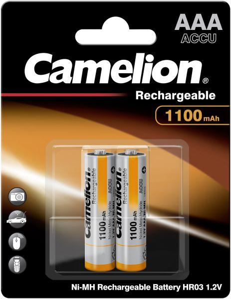 Camelion Ni-MH Rechargeable Akku AAA HR03 1,2V 1100 mAh 2er Blister Micro NH-AAA1100BP2