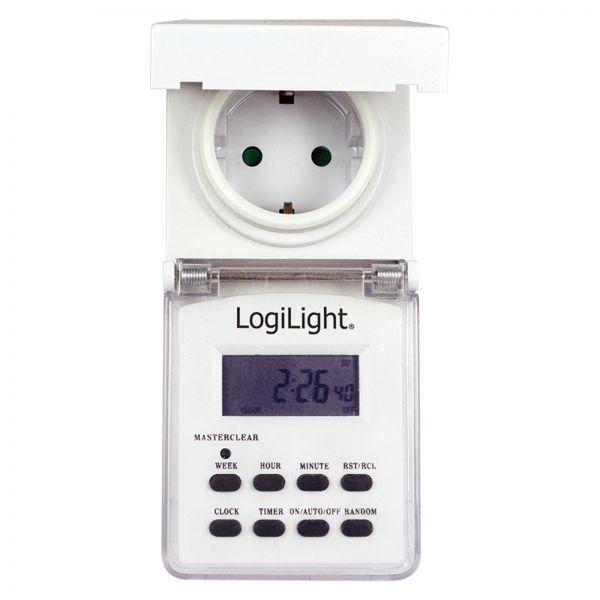 LogiLink LogiLight digitale Zeitschaltuhr outdoor