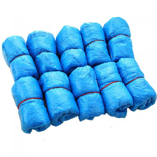EWANTO Einweg Schuhüberzieher Überschuh wasserdichte Universalgröße 100er Pack blau HA-26