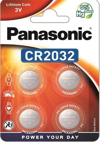 Panasonic Lithium 3V Zelle 4er Blister CR2032 IEC C Knopfzelle CR-2032EL/4B