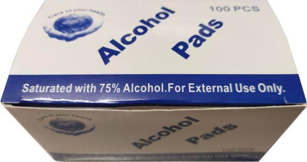 EWANTO 100er Packung Desinfektionstücher, Reinigungstücher mit 75 % Alkohol Tupfer, cleaning wipe fo