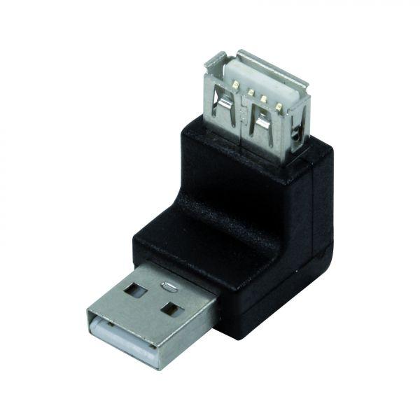LogiLink USB Adapter, USB 2.0 AM / AF, 270 degree