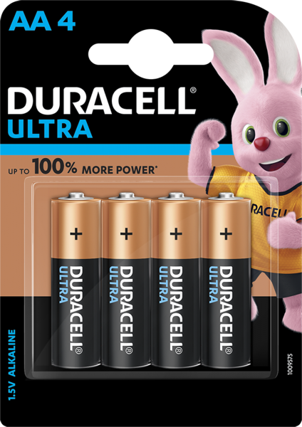 Duracell AA Mignon LR06 1,5V Ultra Power 4er Blister Alkaline MX1500