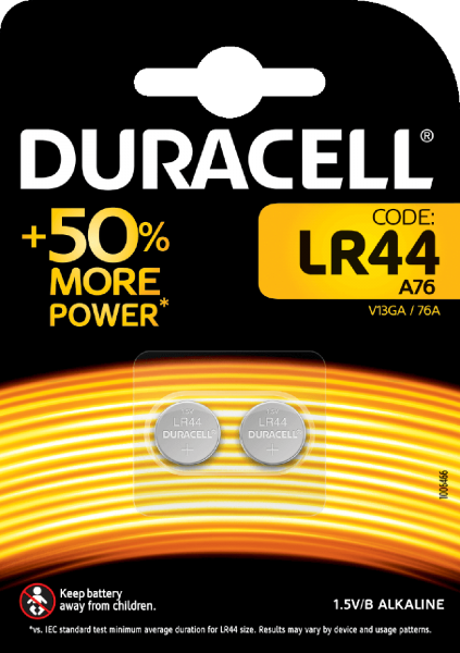 Duracell G13 V13GA 2er Blister LR44 Batterie Knopfzelle 76A LR1154 357A GPA76 LR44/A76