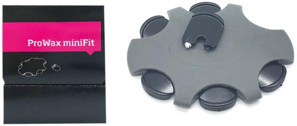 EWANTO 6er Box ProWax miniFit Cerumenfilter Wachsschutz Ohrenschmalzfilter wie Oticon mit Wechselwerkzeug für jeden Filter HA-10