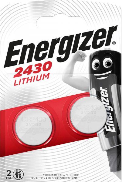 Energizer Lithium 3V Zelle 2er Blister CR2430 IEC C Knopfzelle ECR2430