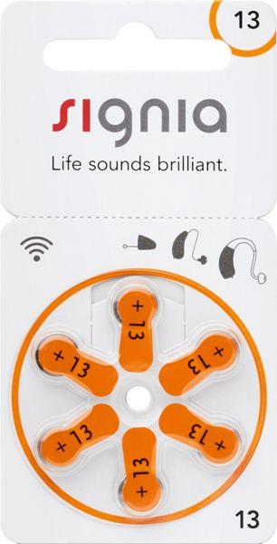 Signia Gr. 13 Hörgerätebatterien Orange 6er Blister PR48 24606 p13mf