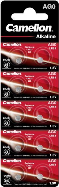 Camelion Alkaline Knopfzelle AG0 LR63 LR521 379 1,5 V 10er Blister AG0-BP10