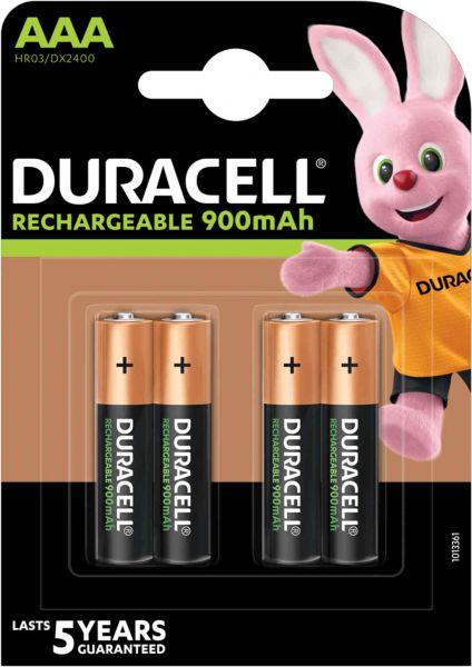 Duracell Recharge Ultra Akku AAA HR03 900 mAh vorgeladen Micro Mini Stilo Bulk DX2400
