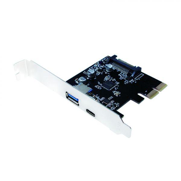 LogiLink USB 3.1 PCI-Express Card, 2-port A + C Type