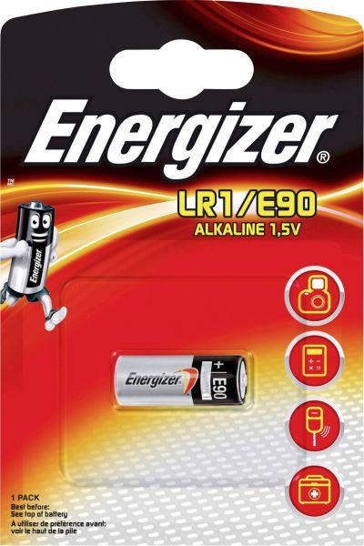 Energizer 1er Blister LR1/E90 Alkaline Batterie 1,5V Alarmanlage-Batterie Lady N 608306