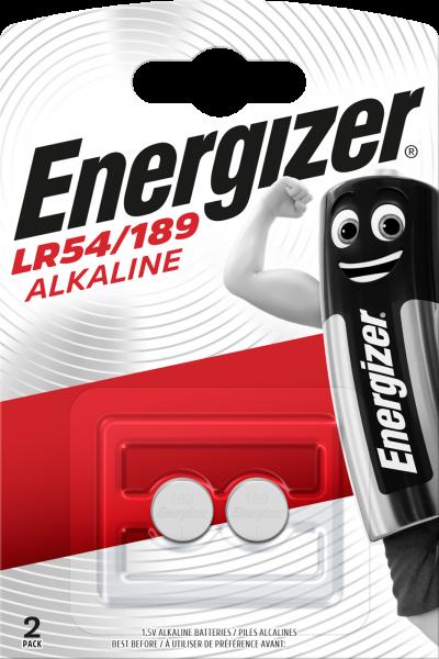 Energizer Knopfzelle 2er Blister LR54 / 189 LR1130 V10GA G10 Batterie 623059