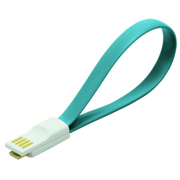 LogiLink USB Cable, magnetic, AM to Micro BM, blue