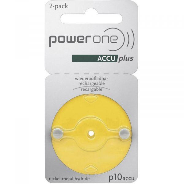 Varta Power One 10 ACCU plus p10 Gelb Akku für Hörgeräte NiMH 2er Blister p10
