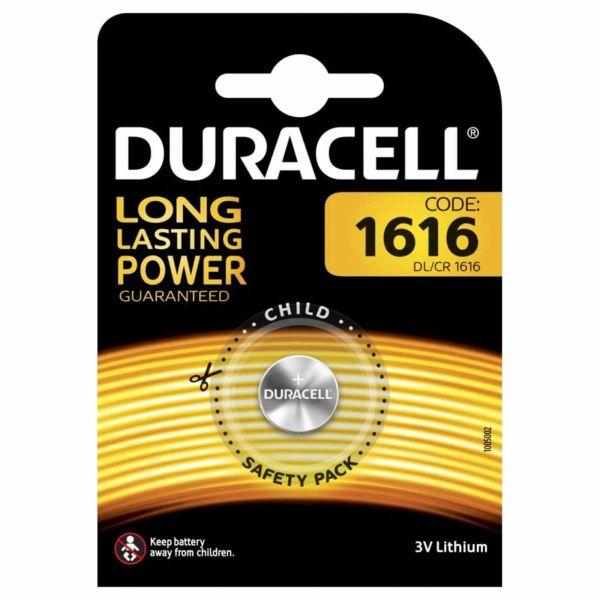 Duracell Lithium 3V Zelle 1er Blister CR1616 Knopfzelle Lithium Coin DL1616 BR1616 1616
