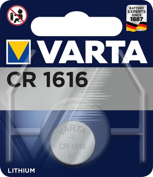 Varta CR1616 1er Blister 3V Batterie Lithium Knopfzelle VCR1616