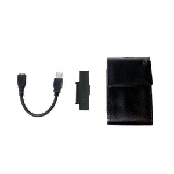 "LogiLink 2,5"" External Encl. USB3.0/SATA, leather, black"