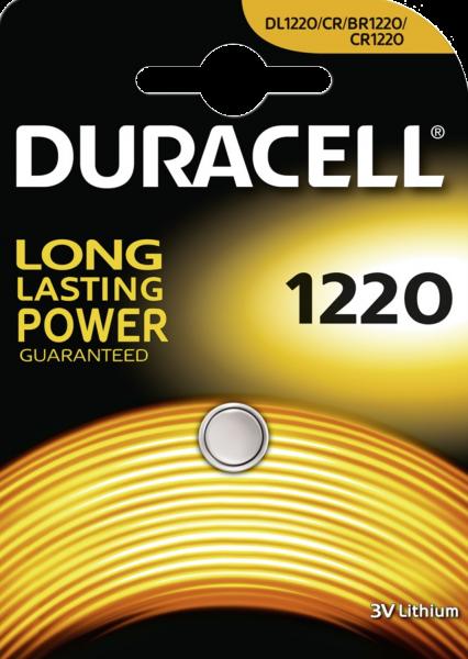Duracell CR1220 Lithium Knopfzelle 3V 1er Blister DL/CR 1220 1220