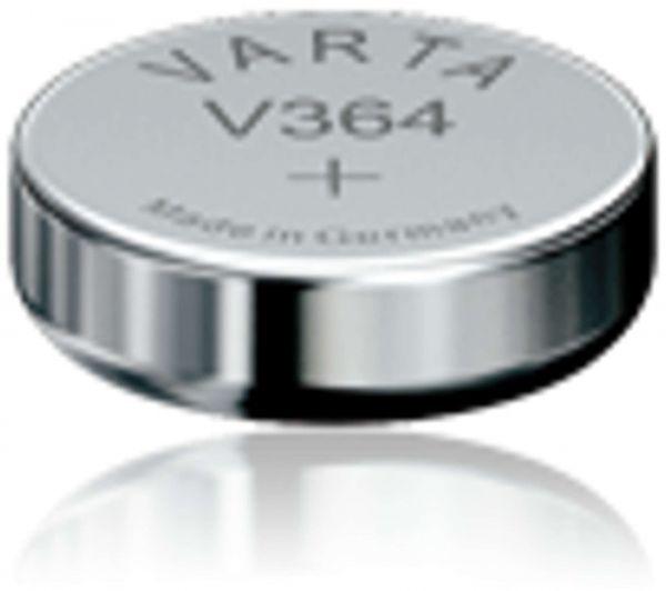Varta Watch V 364 Uhrenzelle SR621 SW V364 (SR60) Silber-Oxid Knopfzelle 17mAh 1,55 V Bulk V 364