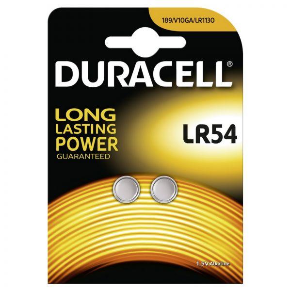 Duracell LR54/189 G10 LR54 LR1130 2er Blister Knopfzelle Batterie V10GA