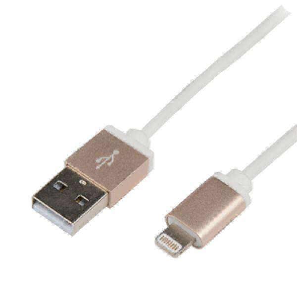 LogiLink USB to Lightning Cable, Alu gold, 1,0m