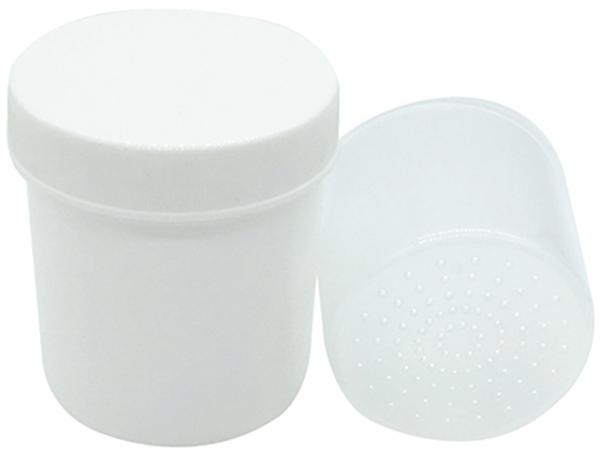 EWANTO Trockenbecher mit Siebeinsatz zur Trocknung und Aufbewahrung von Hörgeräten und Ohrstücken HA