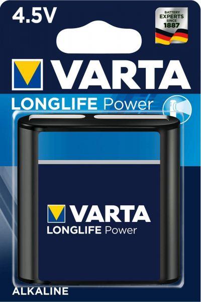 Varta Longlife Power Alkaline 4,5 V Batterie 1er Blister Normal 3LR12 Piatta 4912