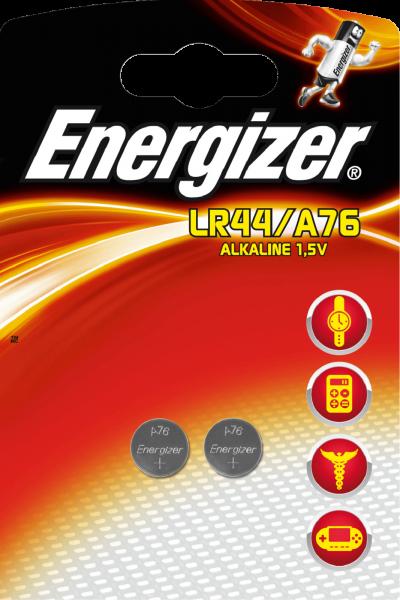 Energizer 2er Blister LR44 Alkaline Knopfzelle A76 1,5V 357A GPA76 LR1154 623071