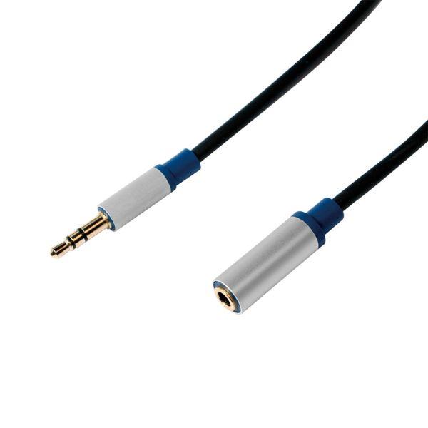 LogiLink Premium Audio Kabel 1,5m 3,5mm Stecker auf 3,5 mm Buchse BASE15