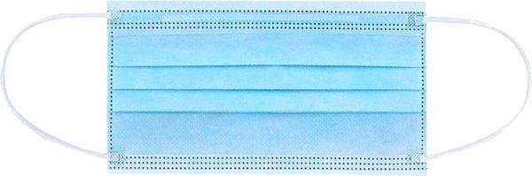 EWANTO Einweg Gesichtsmaske aus Vlies, gegen Tröpfchen, Staub und Luftverschmutzung, Mund-Nasen-Bedeckung, Masken mit Ohrenschlaufen blau OP-01