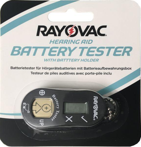 Rayovac Batterietester für Hörgerätebatterien mit Aufbewahrungsbox H952