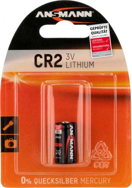ANSMANN Lithium Fotobatterie CR2 3V 1er Blister 800 mAh CR2