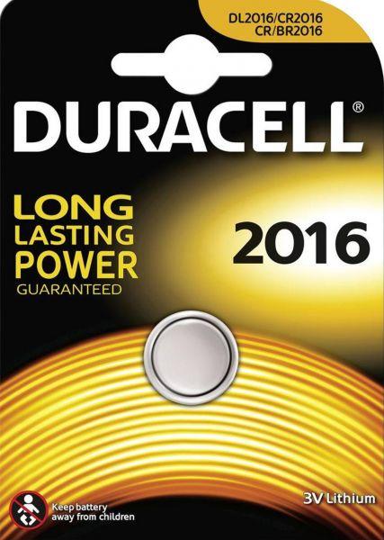 Duracell Knopfzelle Lithium CR2016 1er Blister 3V 2016