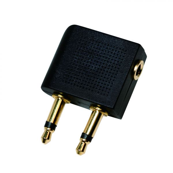 "LogiLink Audio adapter ""Airplane"", 2x3,5mm – 1x 3,5mm"