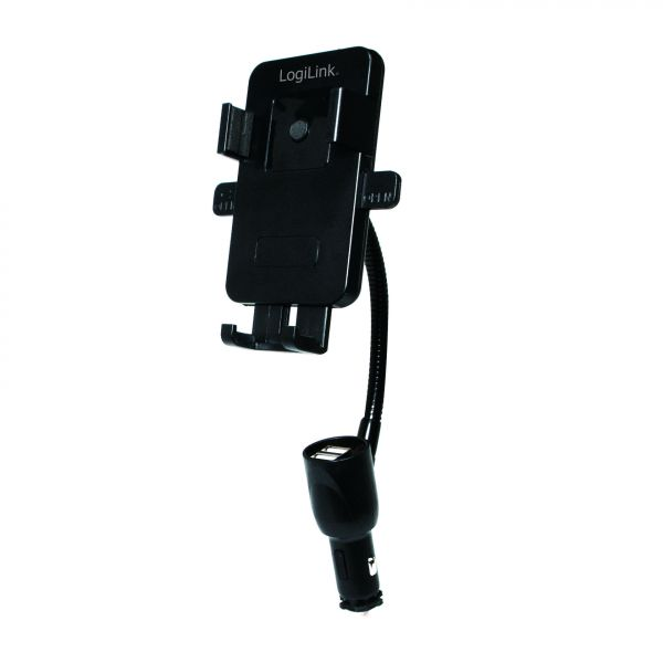 LogiLink Smartphone car holder and charger, 15,5W