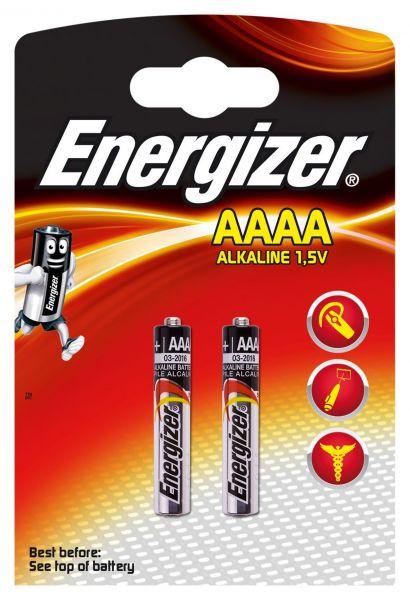 Energizer AAAA Batterie 2er Blister Pack Piccolo 1,5V MN2500 25A LR61 E96 LR8D425 Alkaline 638912