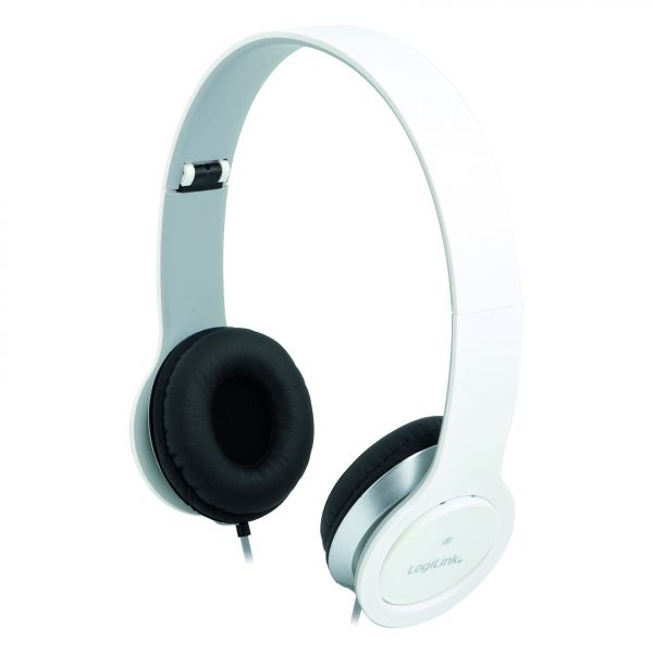 LogiLink Headset Stereo mit Mikrofon 3.5mm weiß