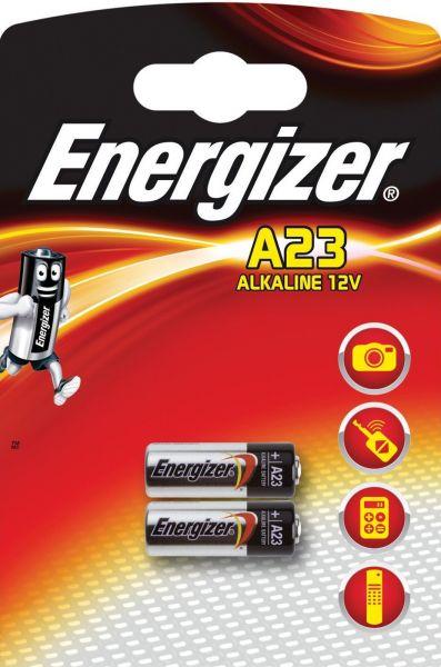 Energizer 2er Blister Fotobatterie Alarmanlage Batterie A23 12V 23A V23GA 639336