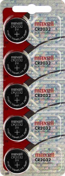Maxell CR2032 CR2032 Batterie 5er Blister 3V Lithium Knopfzelle