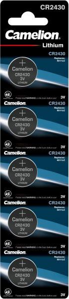 Camelion Lithium Knopfzelle CR2430 2430 3V 5er Blister CR2430-BP5