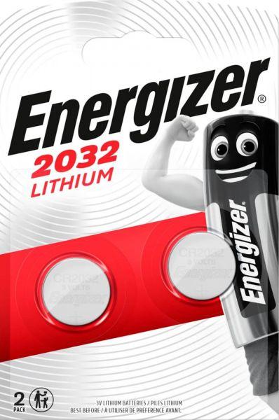 Energizer Lithium 3V Zelle 2er Blister CR2032 IEC C Knopfzelle ECR20322