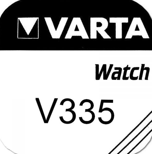 Varta Watch V335 Uhrenzelle Knopfzelle SR 512 SW Silber-Oxid 5 mAh 1,55 V 1er Blister V 335