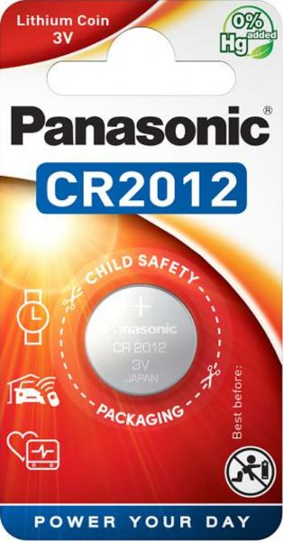 Panasonic CR2012 Lithium Batterie 3V 1er Blister Knopfzelle CR-2012EL