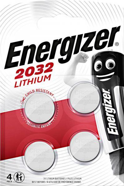 Energizer Lithium 3V Zelle 4er Blister CR2032 IEC C Knopfzelle ECR20324