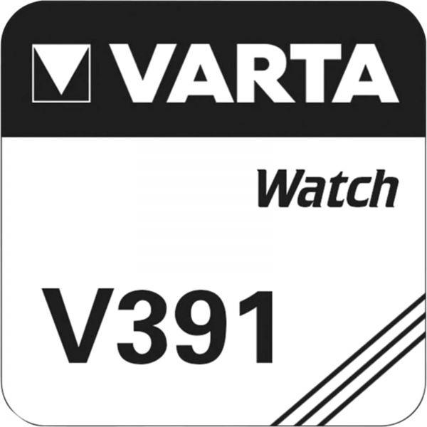 Varta Watch V 391 Uhrenzelle SR 1120 W V391 (SR55) Silber-Oxid Knopfzelle 40mAh 1,55 V 1er Blister